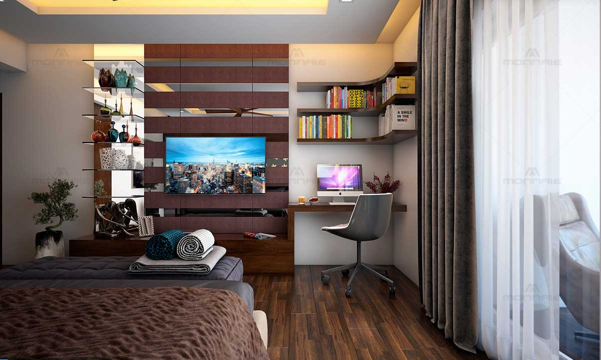 Bedroom Wall Shelves & Decor Ideas - Best Home Interiors in Kerala