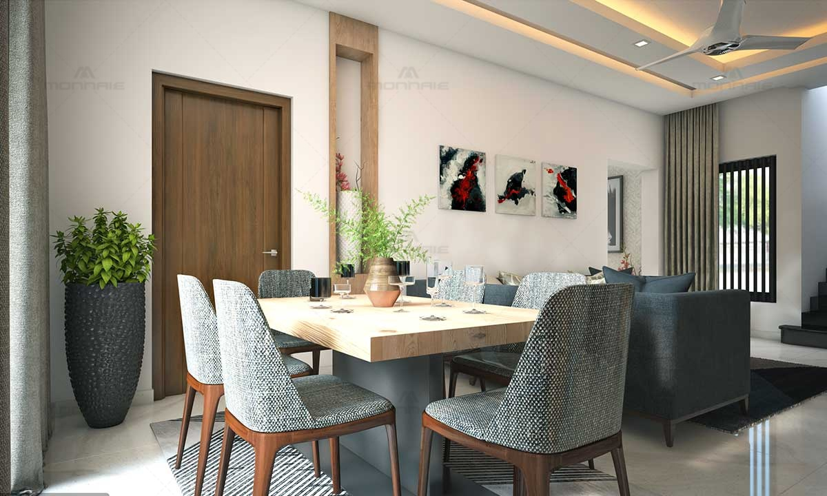 Dining Room Furnitures & False Ceiling Ideas - Monnaie Architects
