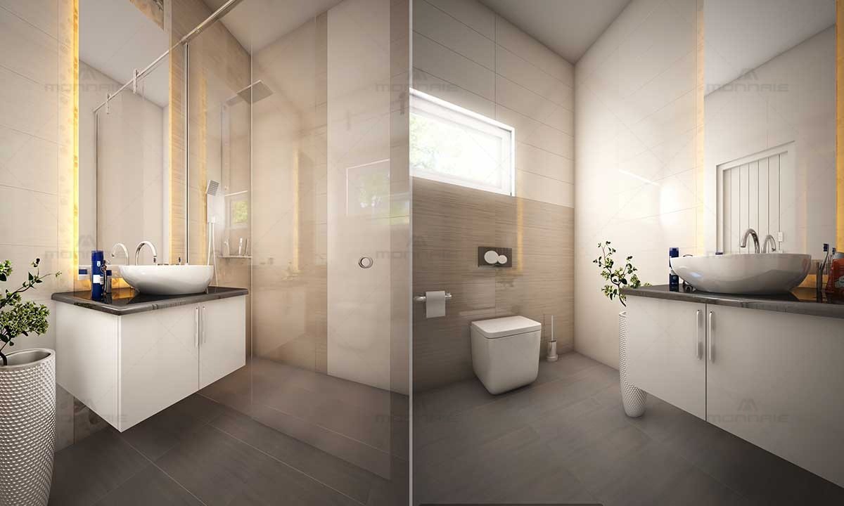 Modern Bathroom Interiors - Best Home Designers Kerala