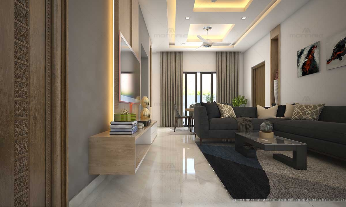 Modern Living Room Design Image - Top Interior Designers Kerala