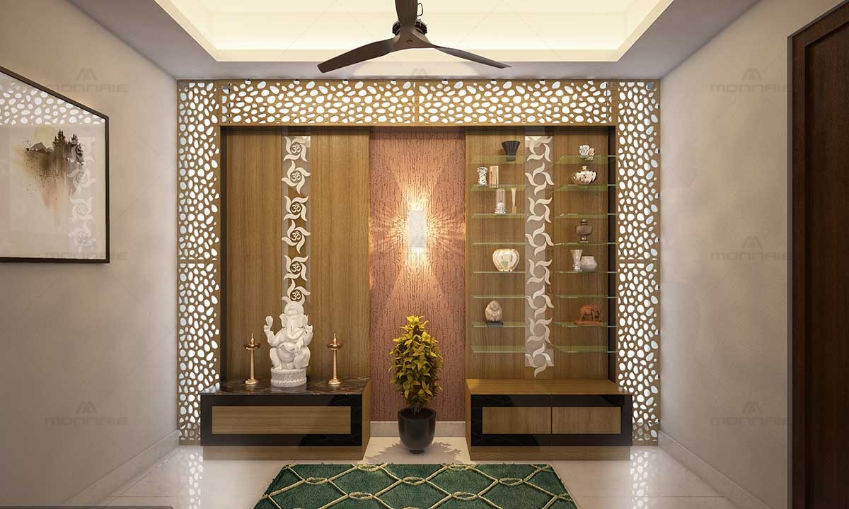 Pooja Room Vastu & Wall Ideas - Top Interior Designers in Ernakulam