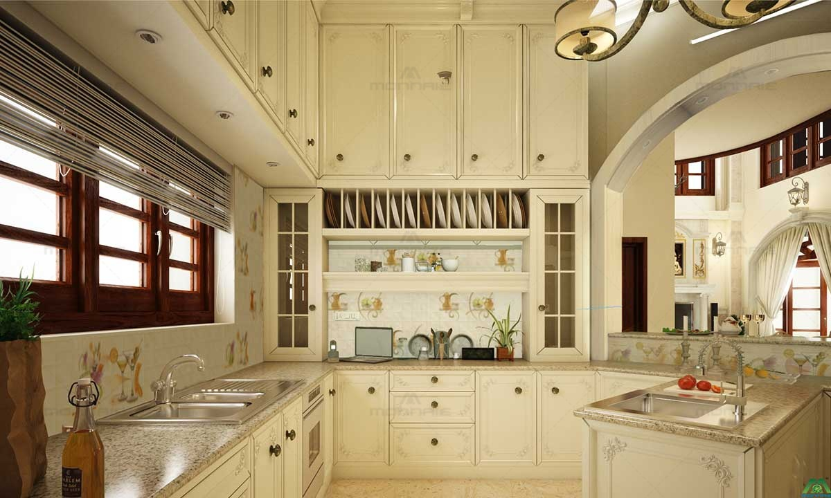 Victorian Style Kitchen Interiors - Best Architects In Kerala