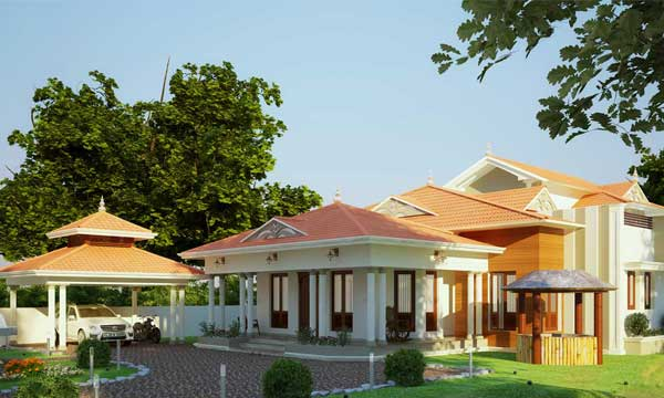 traditional home design in Kollam