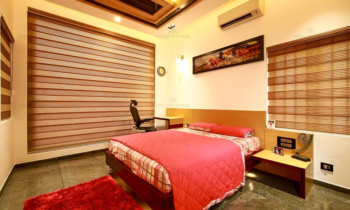 Classy Bedroom Interiors Design - Monnaie Architects, Kerala