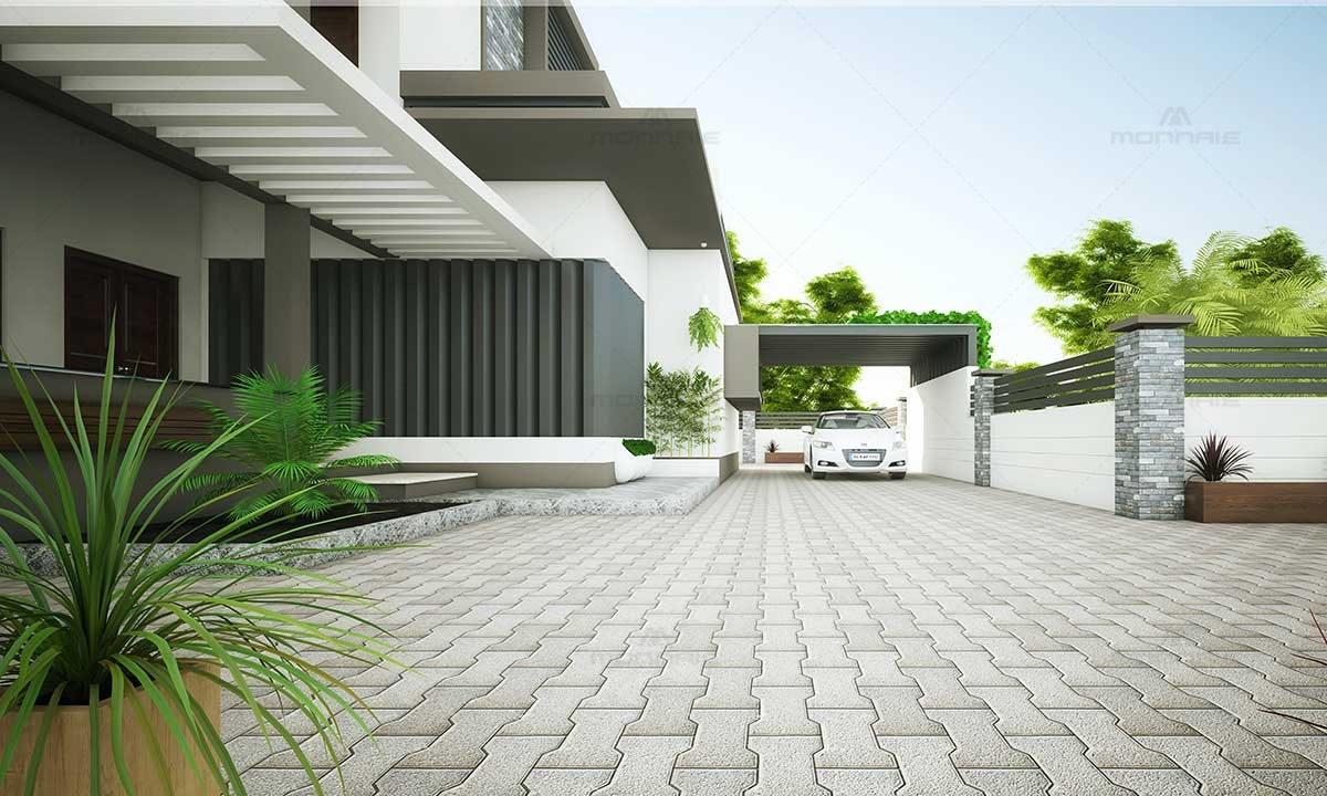 Contemporary Design House - Monnaie Architects Kerala