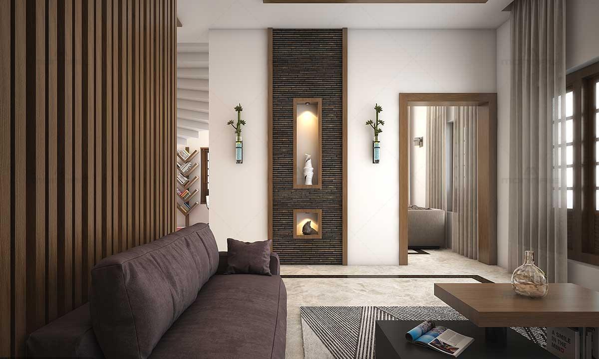 Contemporary Living Room Interiors & Wall Design