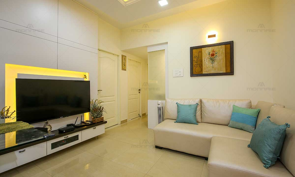 Flat Interior Design For Living Room - Top Home Interiors in Kochi