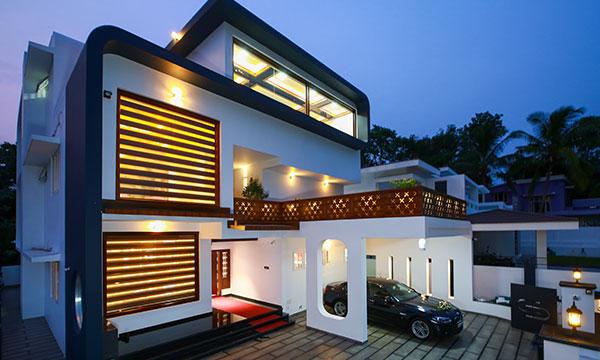 ultra-modern home design in Palakkad