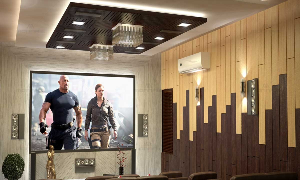 Home Theatre, False Ceiling & Wall Design