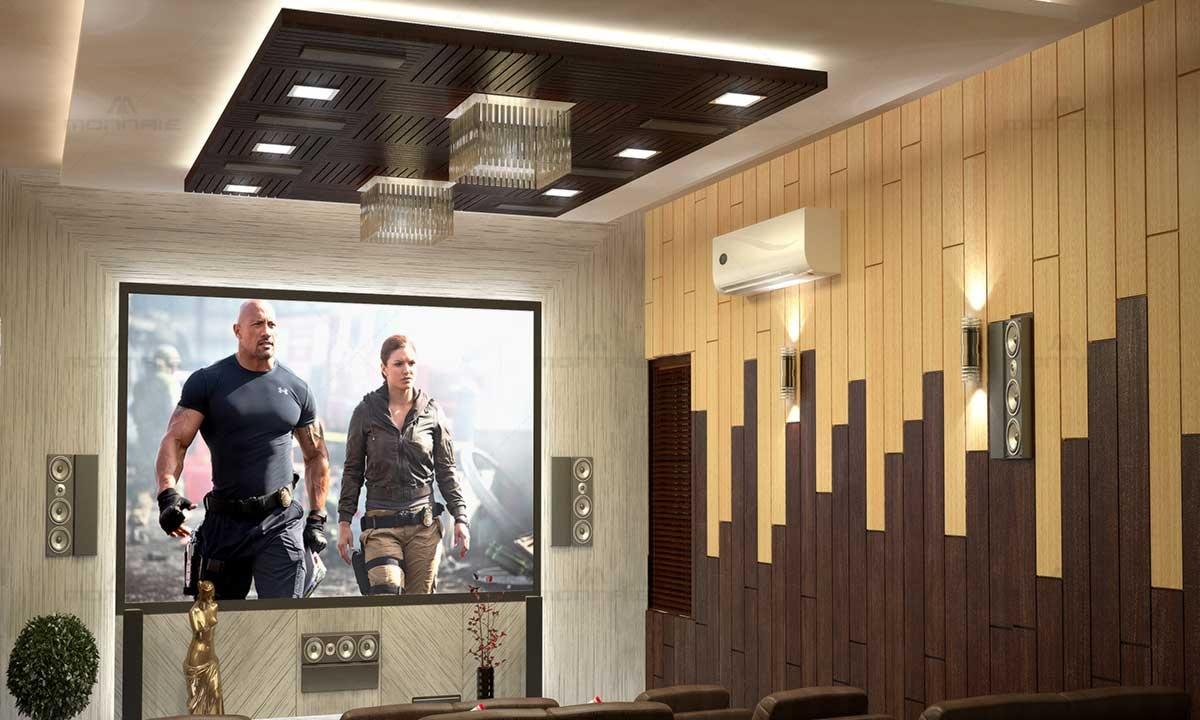 Home Theatre, False Ceiling & Wall Design