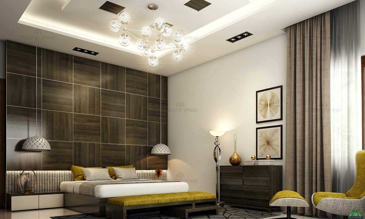 Interior Design & False Celling Lights By Monnaie Architects