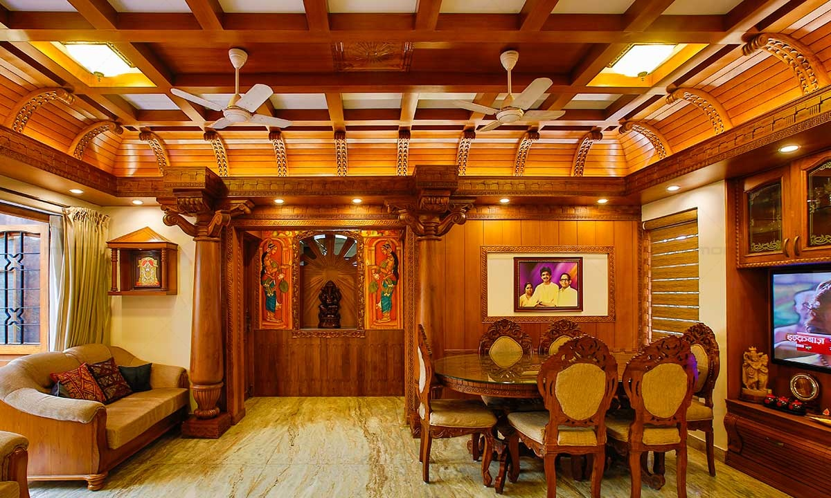 Kerala Traditional Architecture Interior Design Image