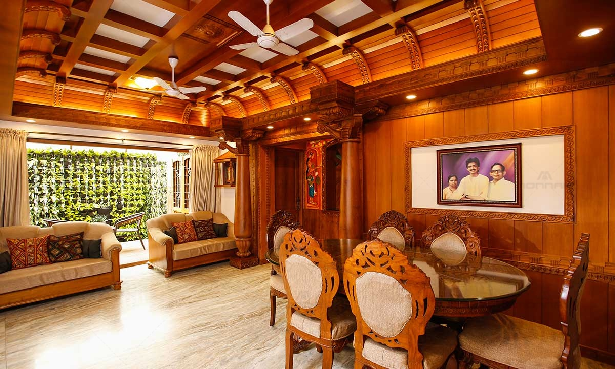 Kerala Traditional Home Interiors Living Room