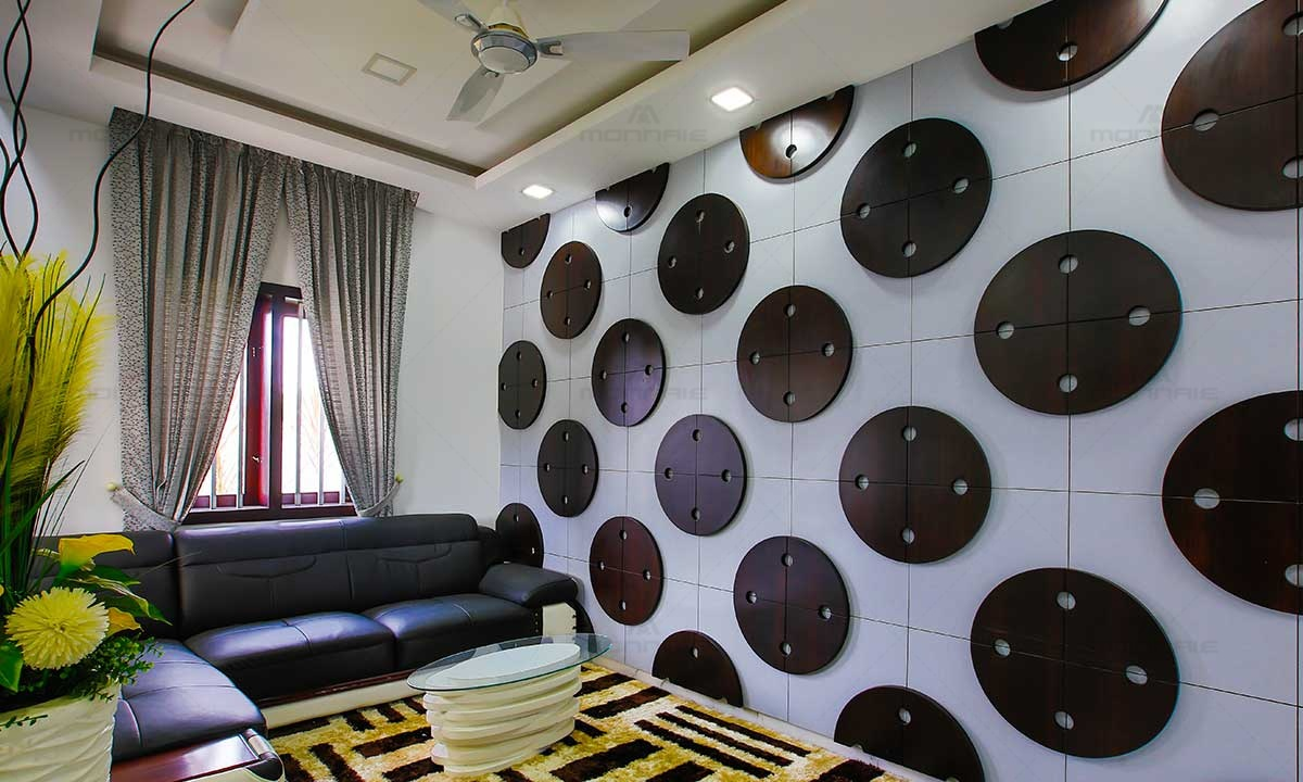 Living Room Interiors & Wall Design - Monnaie Architects