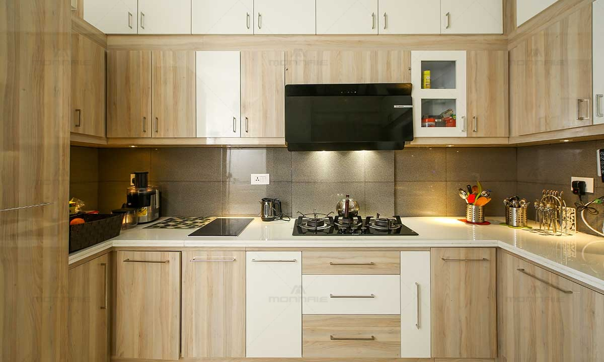 Low Cost Modular Kitchen Cabinets Design - Architects In Kochi