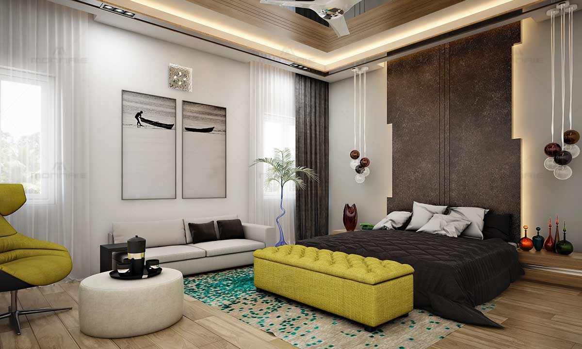 Luxury Bedroom Interiors Furnitures & Wall Images