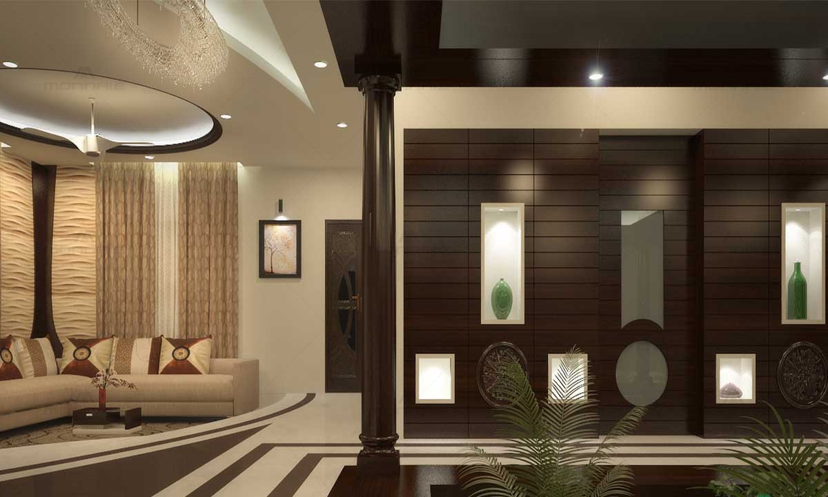 Luxury Interiors For Living Room - Home Designers In Kerala
