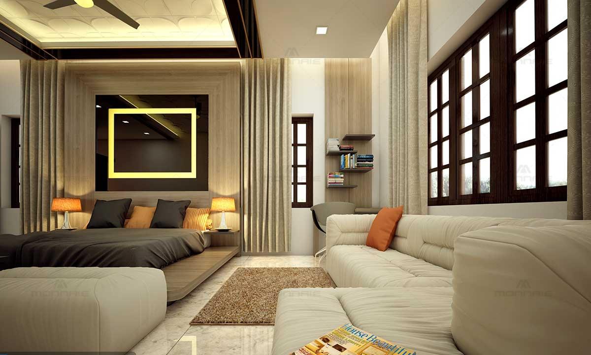 Luxury & Modern Bedroom Design Idea Picture - Best Architects In Kerala