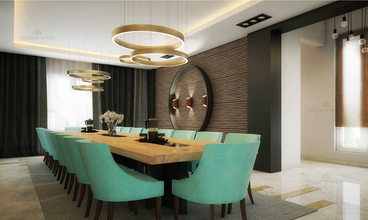 Modern Dinning Room Furniture & Wall Design