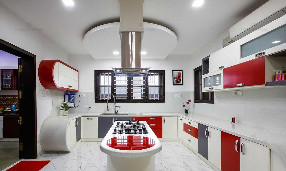 Modular Kitchen Cabinet Design - Monnaie Interiors
