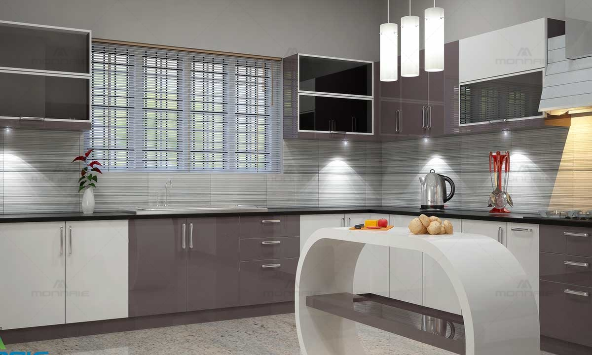 Modular Kitchen Island Ideas & Color - Top Interior Designers In Kochi