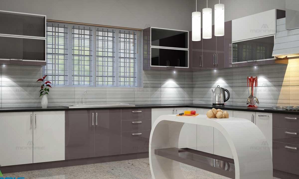 Modular Kitchen Island Ideas & Color - Top Interior Designers In Kochi