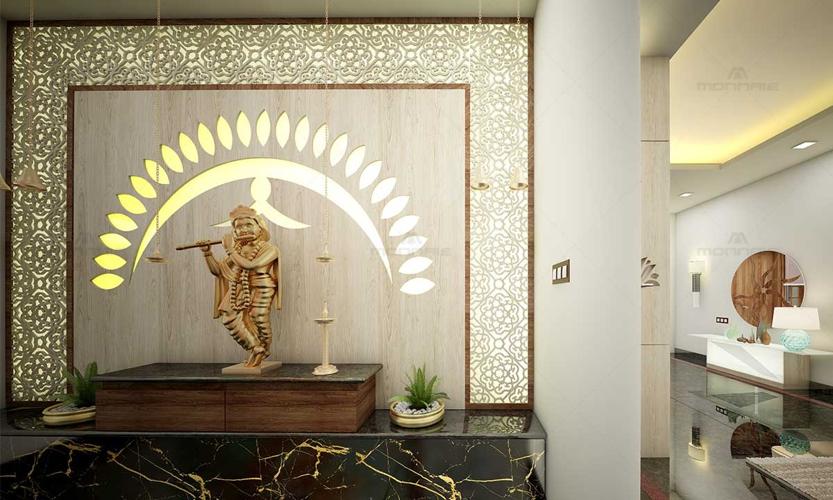 Pooja Room Wall Design & Decoration For Home