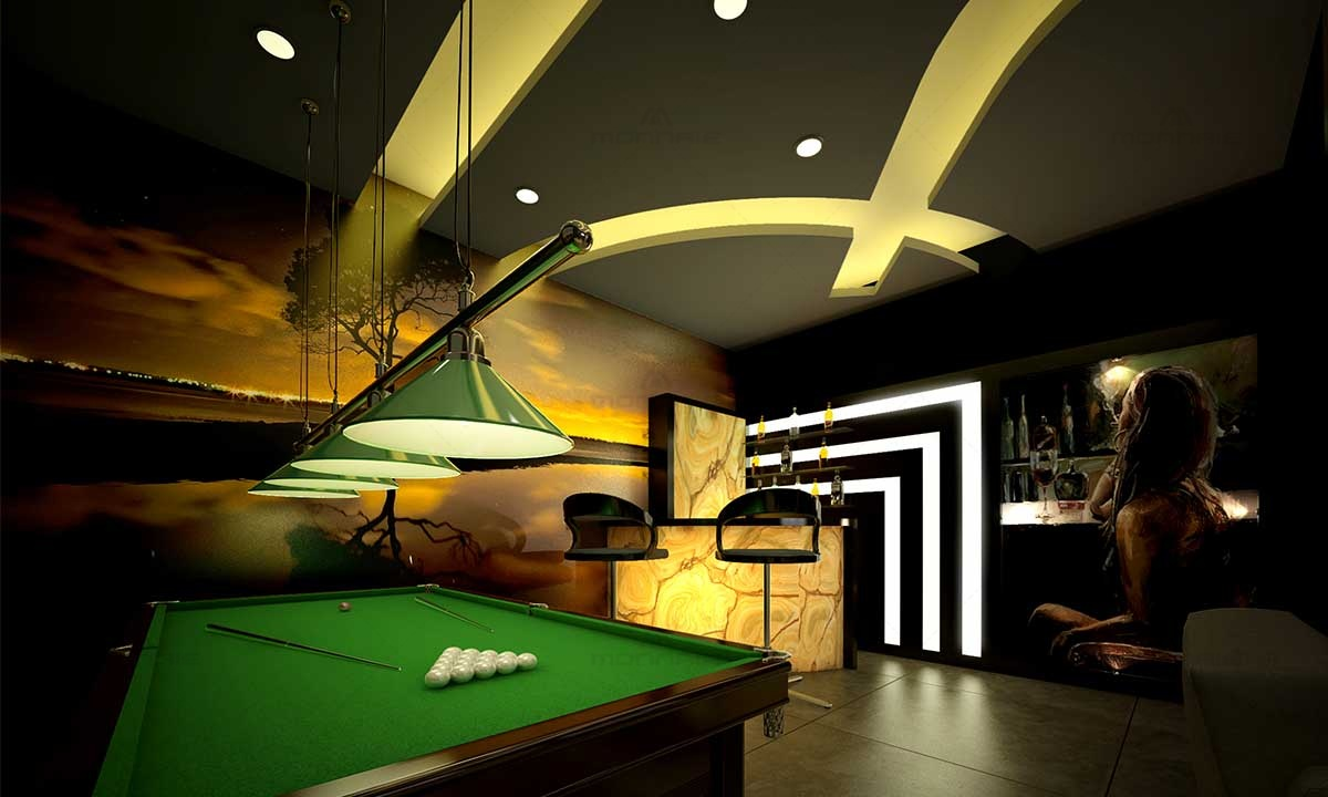 Pool Table Interior Design - Best Architects In Kerala