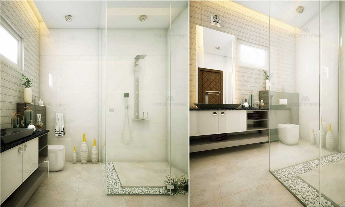 Simple Bathroom Designs For Home - Monnaie Interiors