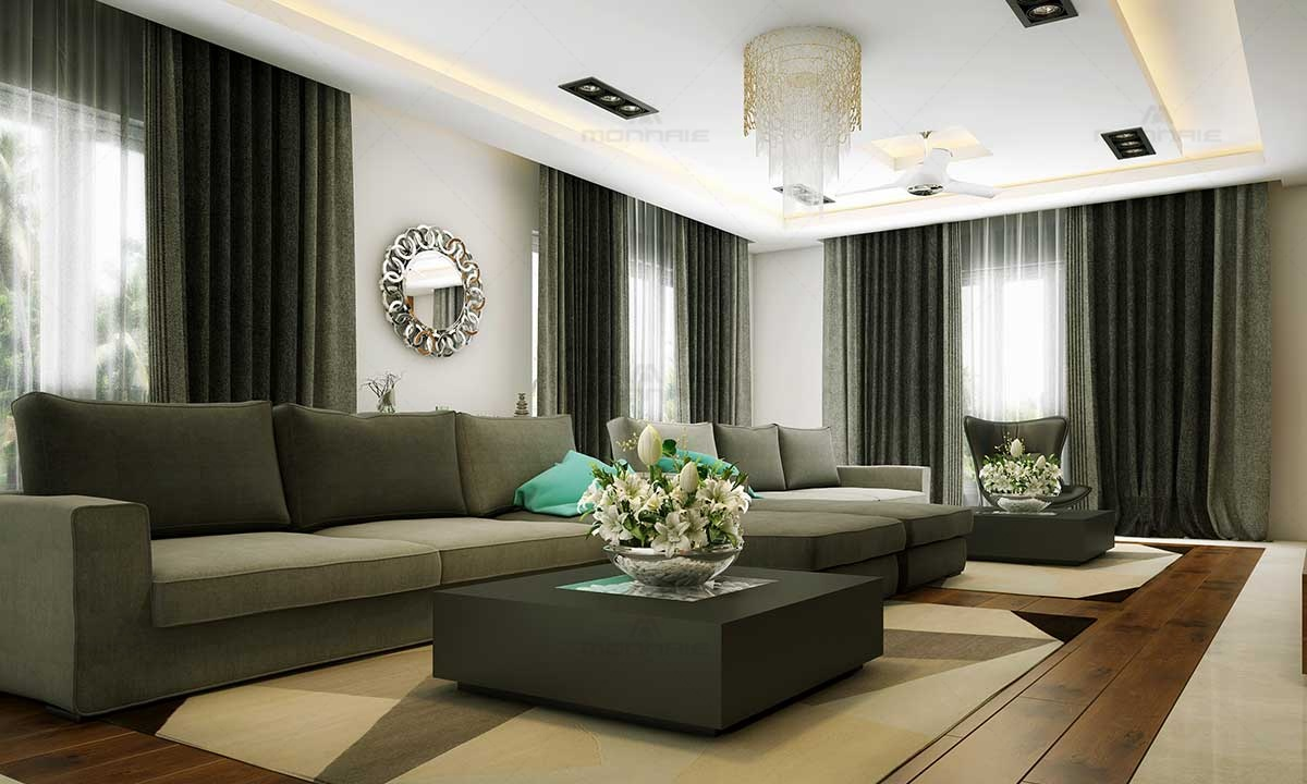 Top Living Room Interior Designers In Kerala - Monnaie Architects