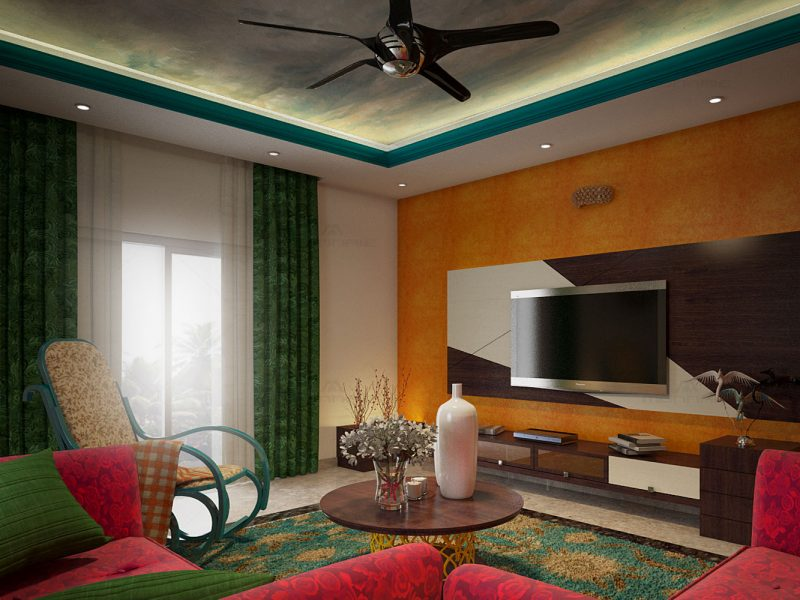 Ecletic style interior - top interior designers in ernakulam