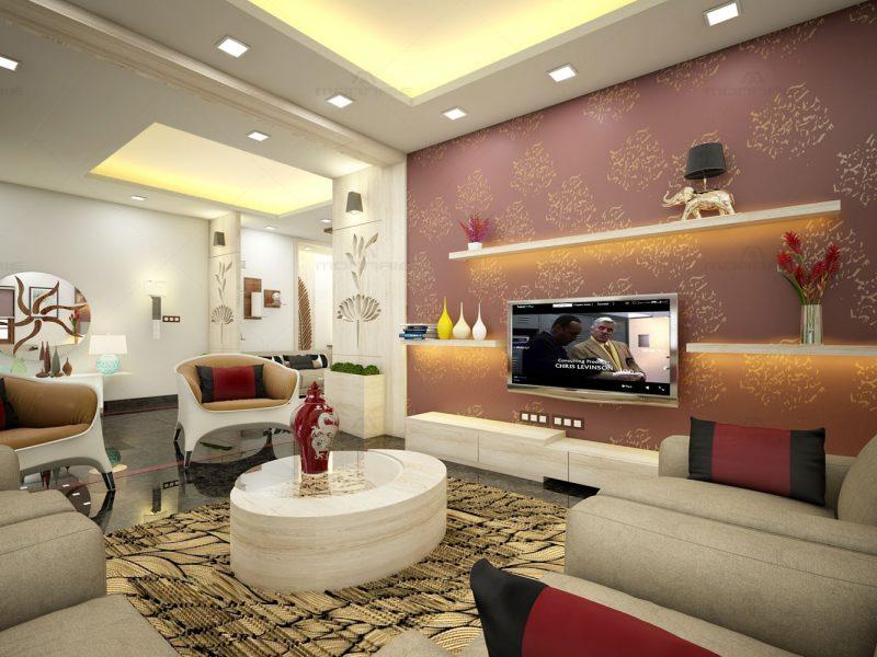 Living room interior designers in kerala