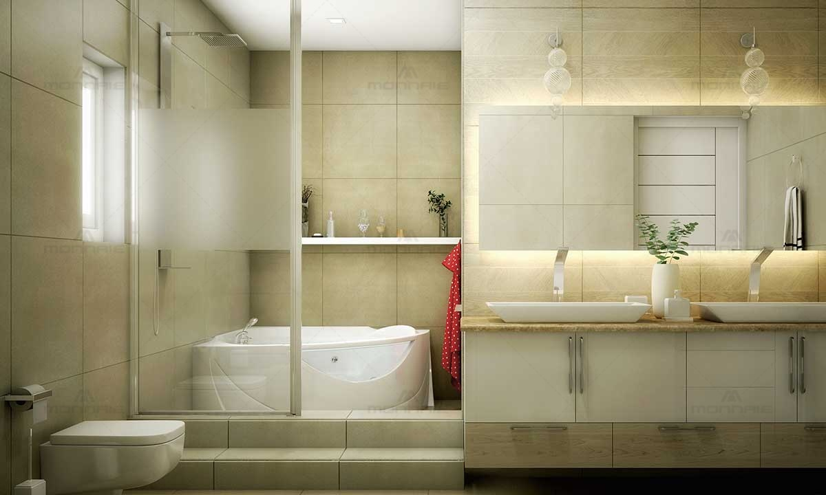Contemporary bathroom ideas white