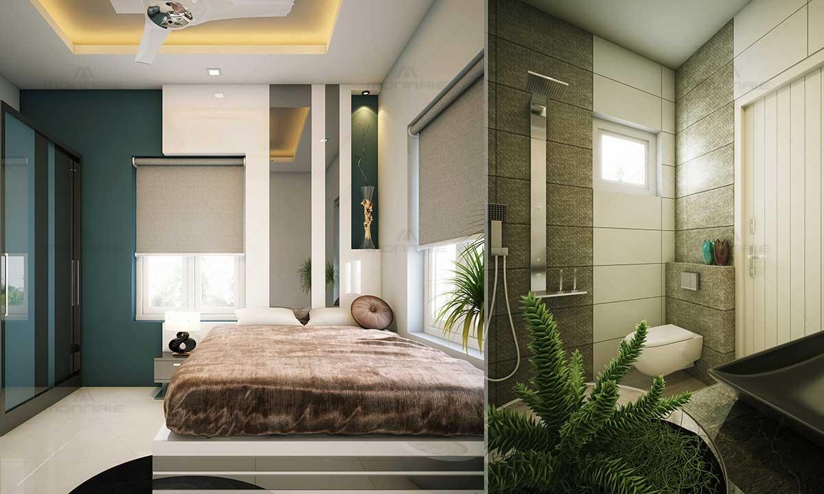 Bedroom & Bathroom Interior Design Ideas - Home Designers In Kerala