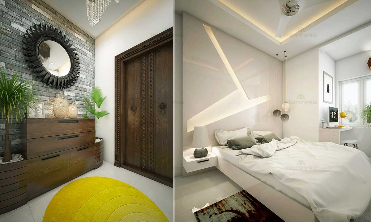 Bedroom Design Ideas With Themes, Lights - Architects In Kerala