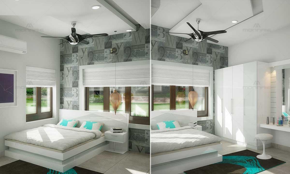 Bedroom Interior Design With White Theme