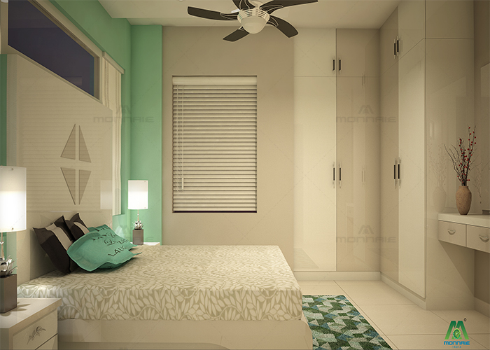 bedroom interior designers in kerala - Monnaie Architects & Interiors