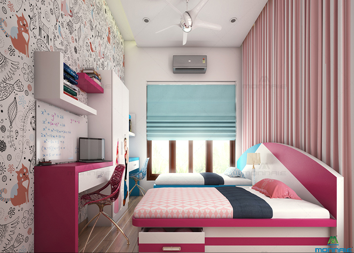 bedroom interior designers in kochi - Monnaie architects & Interiors