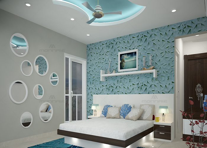 bedroom interior designers in palakkad - Monnaie architects & Interiors