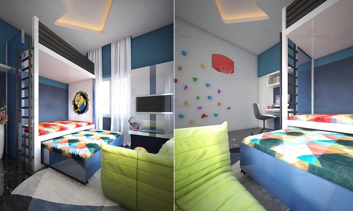 Kids room bedroom wall design