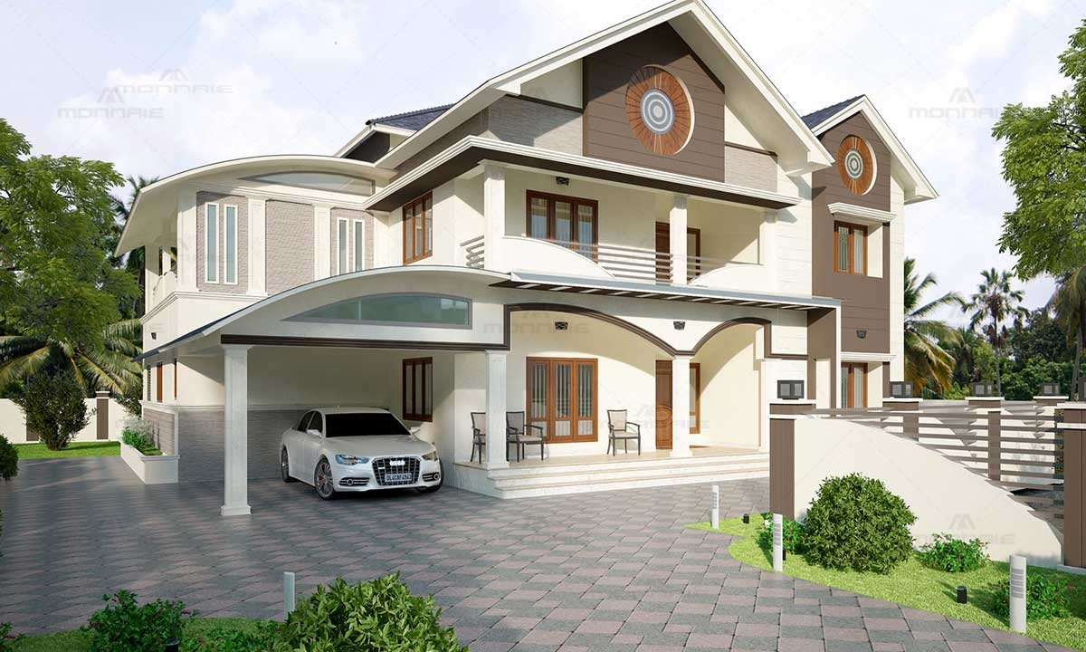 Colonial Style House Picture With Contemporary Design, Palakkad