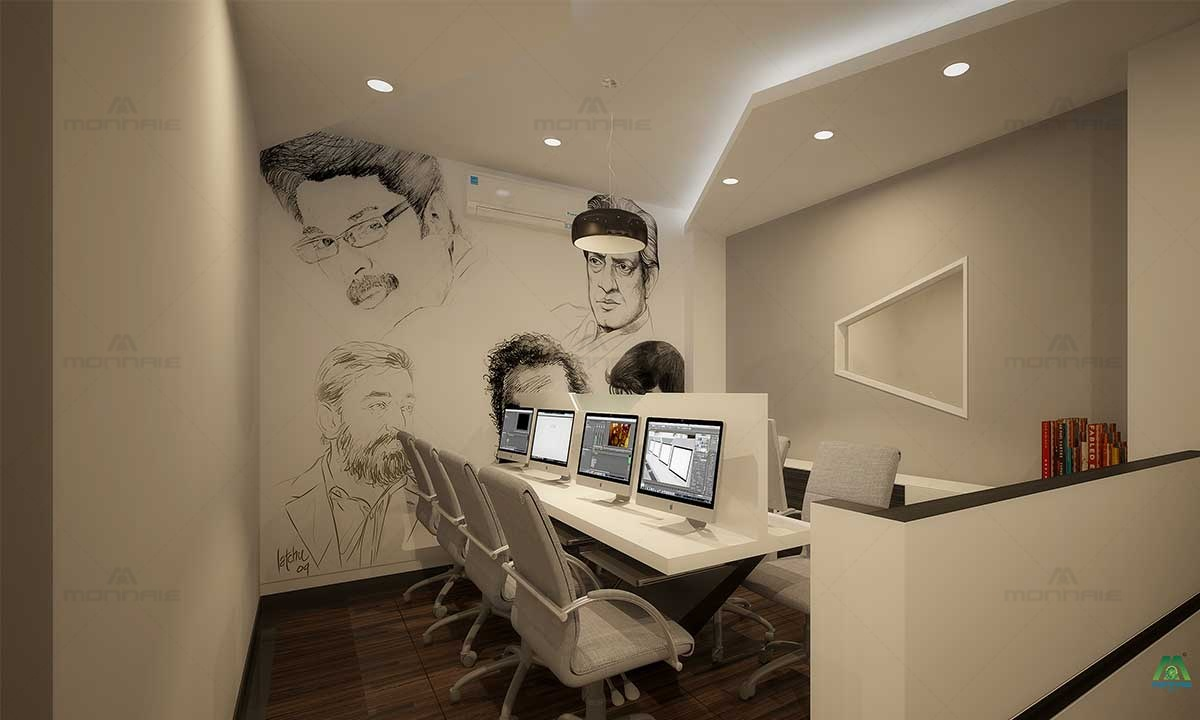 Commercial Interior Design Office & Wall Design - Top Home Interiors in Kerala