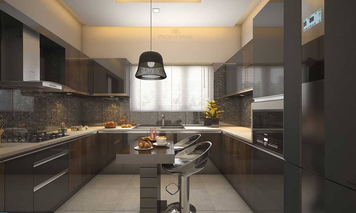 Contemporary Kitchen Islands - Best Home Designers In Kerala