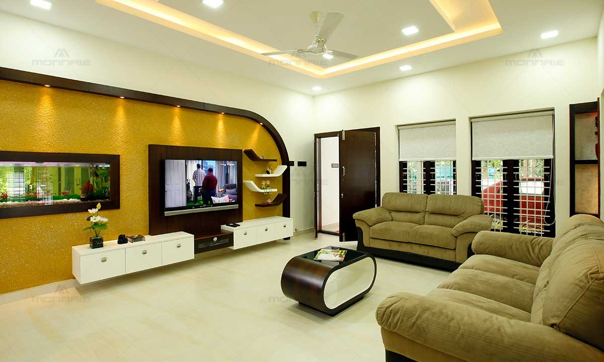 Contemporary Living Room Designs Palakkad, Monnaie Architects