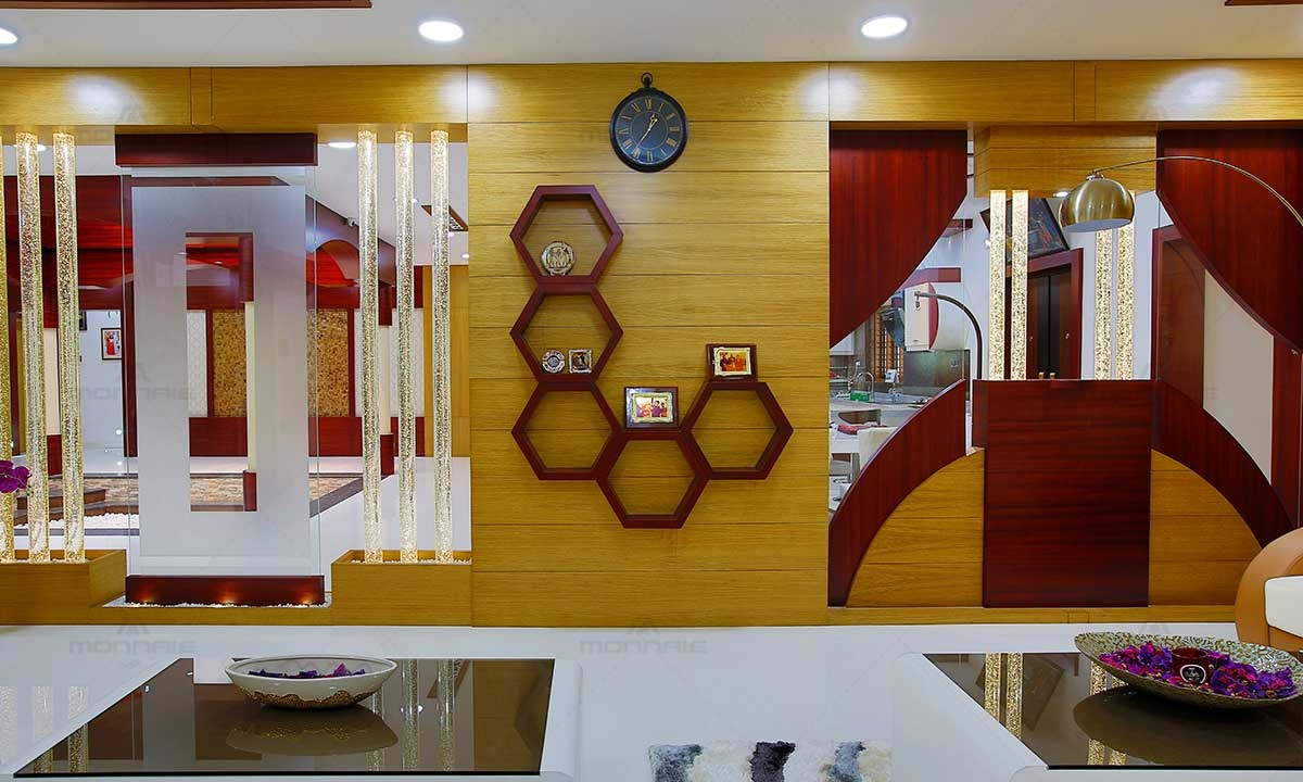 Home Interior Wall Shelves & Glass Door