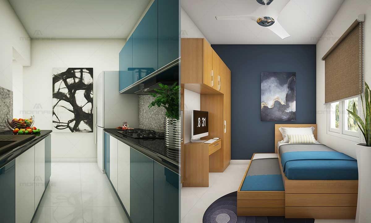 Interior Design Ideas For Small Kitchen & Bedroom
