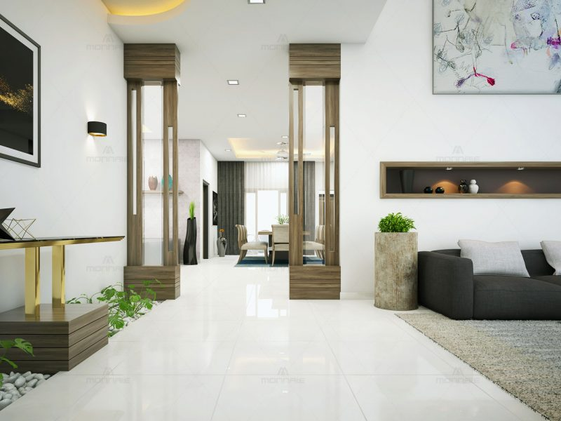 interior wall painting - Monnaie Architects & Interiors