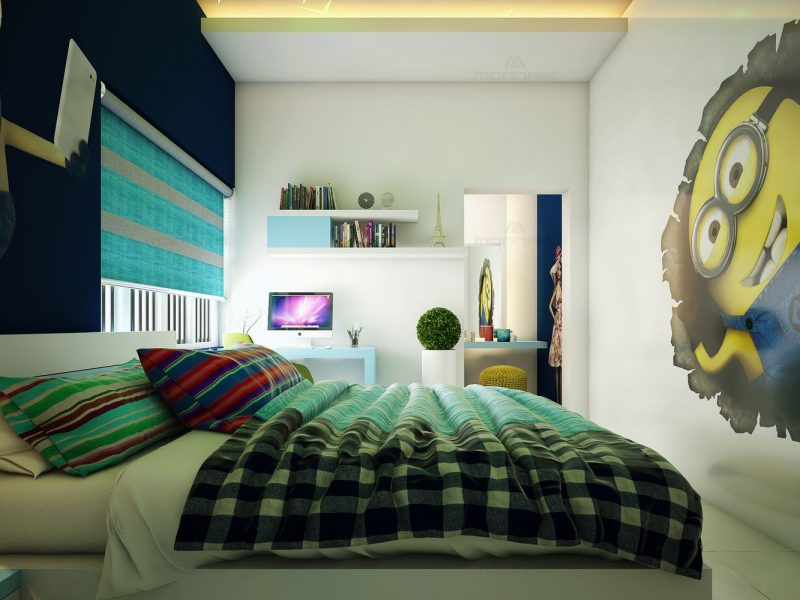 Kids room interior design - Monnaie Architects & Interiors