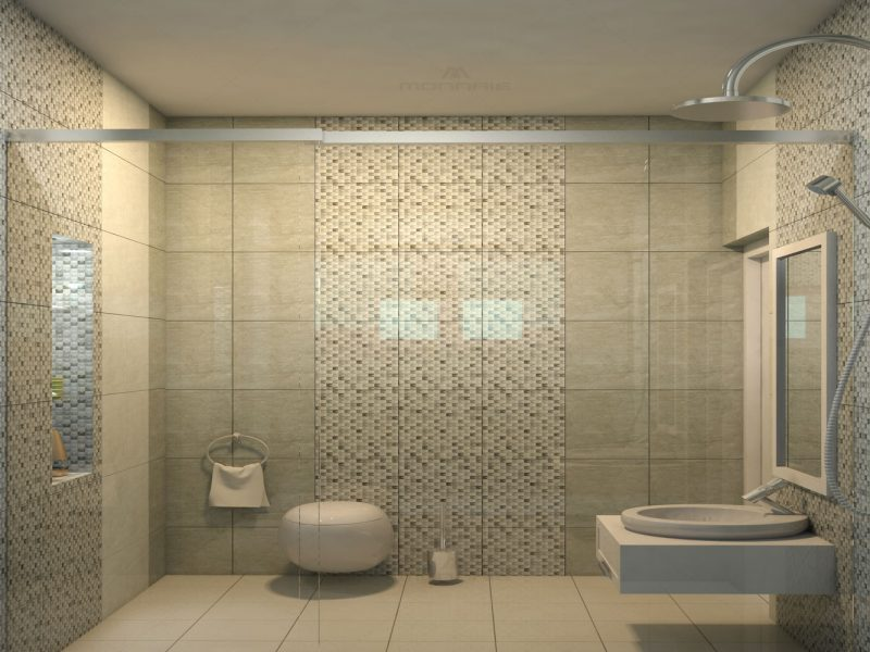 Bathroom Interiors in Ernakulam - Monnaie Achitects & Interiors