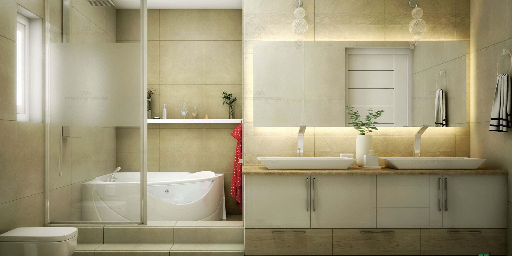 Bathroom interiors in Kottayam
